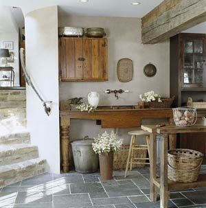 old world rustic kitchen