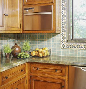 kitchen countertop with fruit