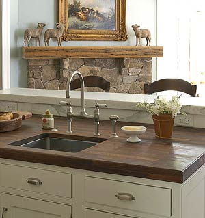 Dark wood countertop
