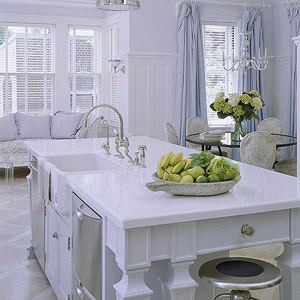 White stone countertops