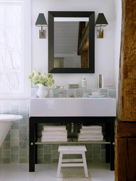 Let your vanity shine down design style for Better homes and gardens bathroom designs