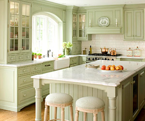 Cottage Kitchen Colors