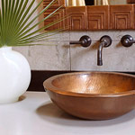 Vessel Sink and Matching Mirror Frame