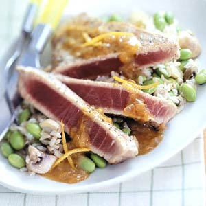 sliced tuna filets