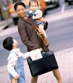 Working mom with two kids