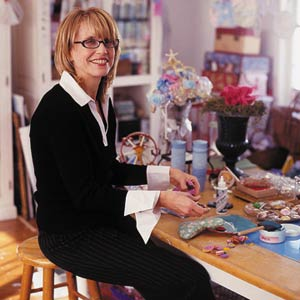 Jennifer Pagnelli Sitting At Her Craft Table