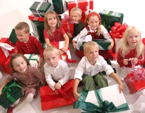 Septuplets with presents