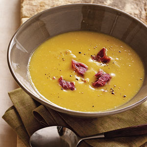 split pea ham and leek soup