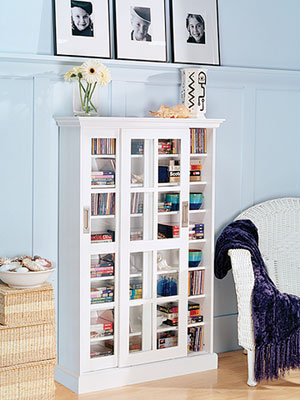 Smart Storage, window media cabinet