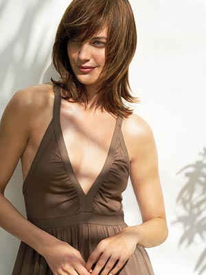 woman in brown dress