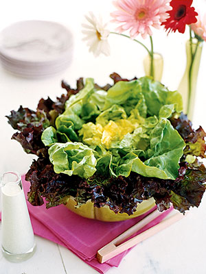 floral spring salad