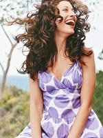 Summer Lovin' Hair,  Woman in Purple Polka-Dot Dress