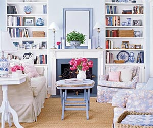 Lighten Up, gather round, floral living room