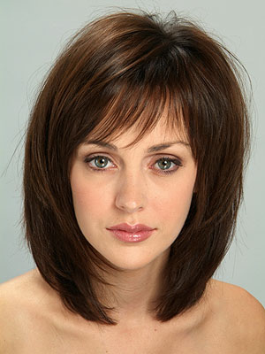 Medium shag hairstyles medium length brown bob.