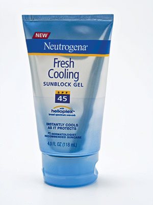 Neutrogena fresh cooling gel sunblock