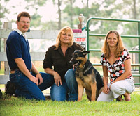 Michael and Heidy Drawdy with Lorio and dog