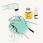 drawing of hand washing