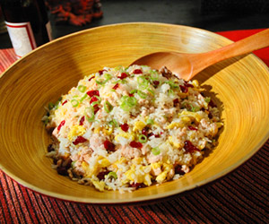 Cranberry-Turkey Fried Rice