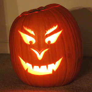 scary face pumpkin