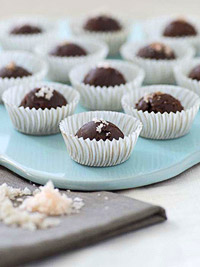 Chocolate Truffles with Pink Salt