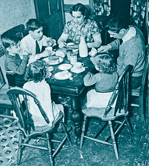 How America Lives: family around dinner table