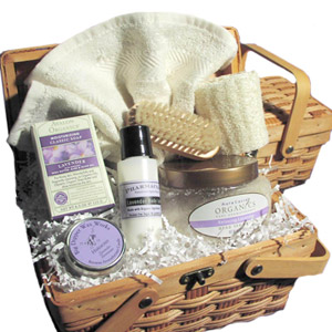 Organic Lavender Spa Basket