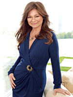 Valerie Bertinelli in blue dress
