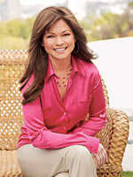 Valerie Bertinelli in pink shirt