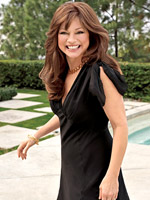 Valerie Bertinelli in black dress