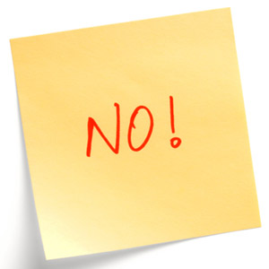 No! post-it