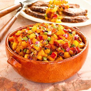 Flank Steak with Spicy Fruit Salsa