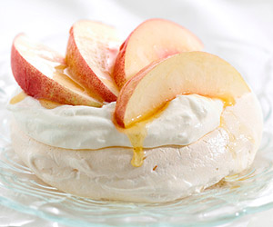 California White Nectarine Pavlova