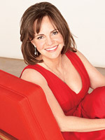 Sally Field in red
