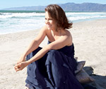 Sally Field on beach