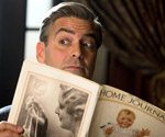 George Clooney reading Ladies' Home Journal