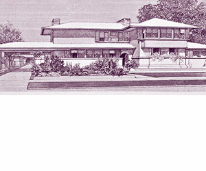 Frank Lloyd Wright suburban house