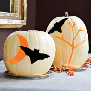 Boo-tiful Bat Pumpkins