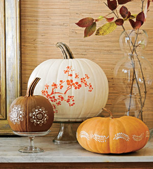 Stylish Stenciled Pumpkins