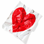 crumpled heart