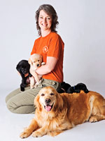 Lu Picard with dogs