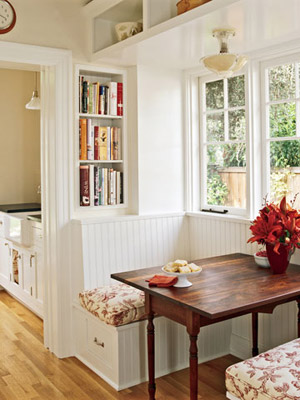 two-seater kitchen nook