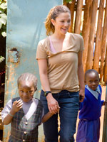 Drew Barrymore with the U.N. World Food Programme