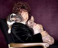 Nancy Gordon and dogs