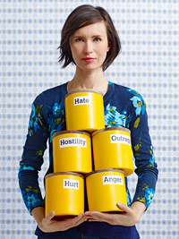 Model holding cans
