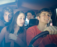 teens in car