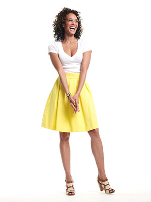 Woman in Yellow skirt