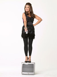 Paula Abdul on top of TV
