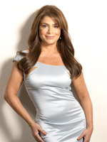 Paula Abdul in silver dress