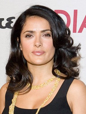 Salma Hayek, medium hair