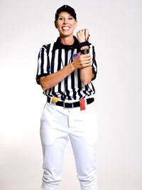 Sarah Thomas in uniform